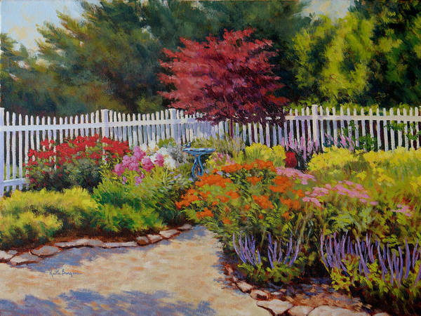Impressionism Poster featuring the painting Dotti's Garden Summer by Keith Burgess