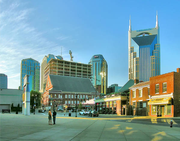 City Poster featuring the photograph Downtown Nashville IIi by Steven Ainsworth