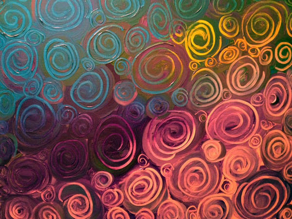 Swirl Poster featuring the painting Drops Of Jupiter by Stephanie Margalski