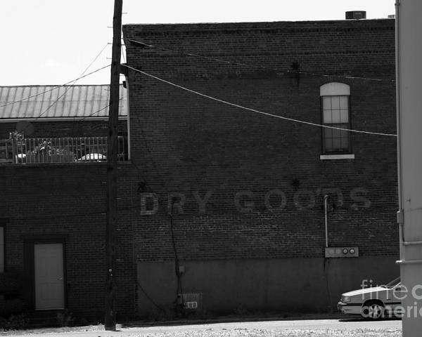 Advertise Poster featuring the photograph Dry Goods by Alan Look