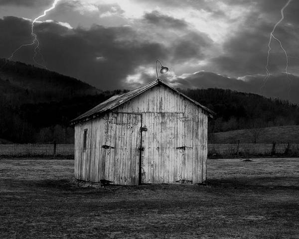 Shed Poster featuring the photograph Dry Storm by Ron Jones