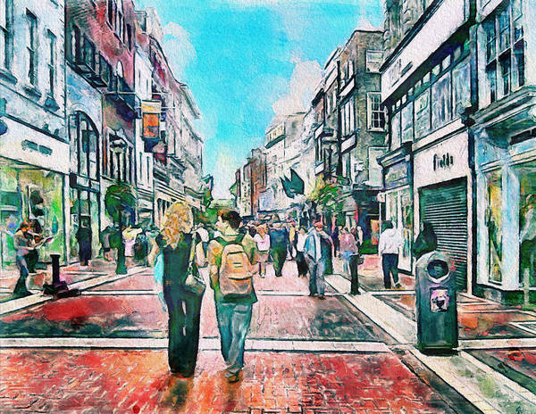 Dublin Poster featuring the photograph Dublin Grafton Street by Yury Malkov