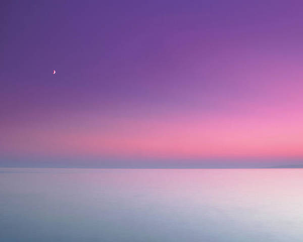 Horizontal Poster featuring the photograph Dusky Pink Sky by JT images