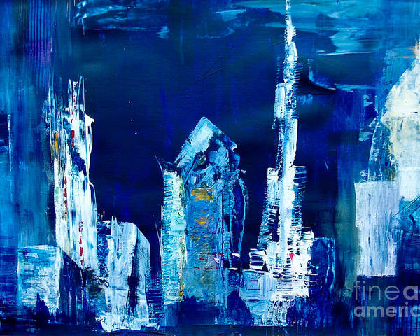 Dubai Poster featuring the painting Dxb The Address by Martina Dresler