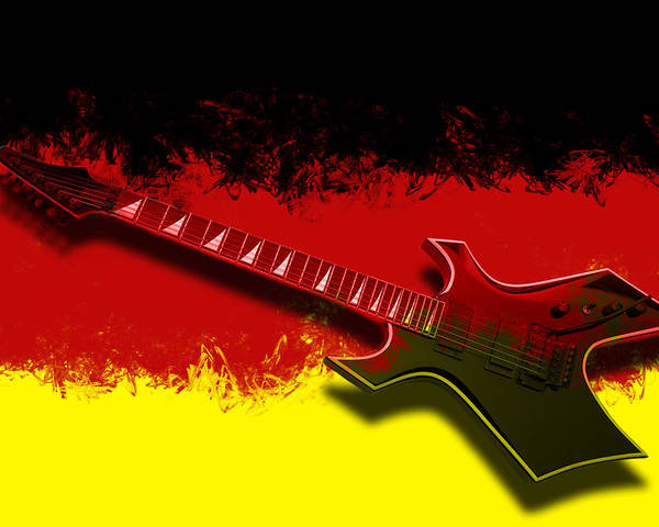 String Poster featuring the photograph E-guitar - German Rock II by Melanie Viola