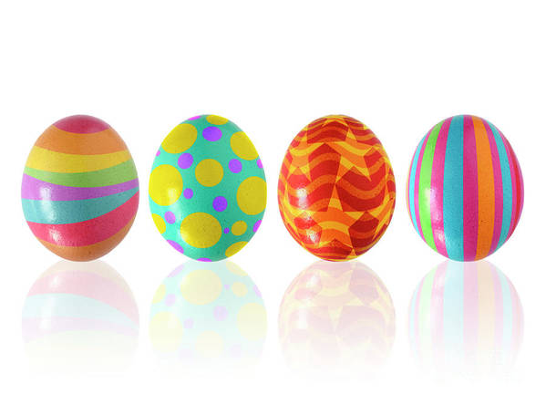 April Poster featuring the photograph Easter Eggs by Carlos Caetano