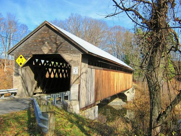 Nh Poster featuring the photograph Edgell Covered Bridge by Wayne Toutaint