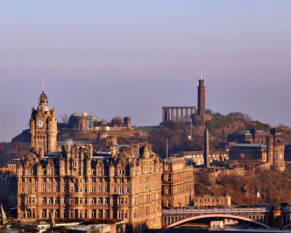Edinburgh Poster featuring the photograph Edinburgh Scotland - A Top-class European City by Christine Till