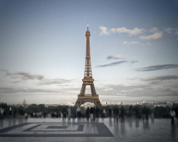 Europe Poster featuring the digital art Eiffel Tower Paris by Melanie Viola