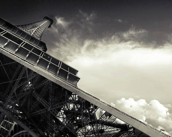 Horizontal Poster featuring the photograph Eiffel Tower by Simona Dumitru