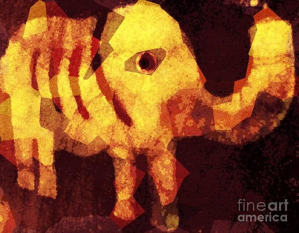 Fania Simon Poster featuring the mixed media Elephant I Am by Fania Simon