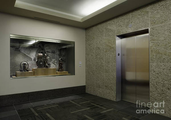 Architecture Poster featuring the photograph Elevator by Robert Pisano