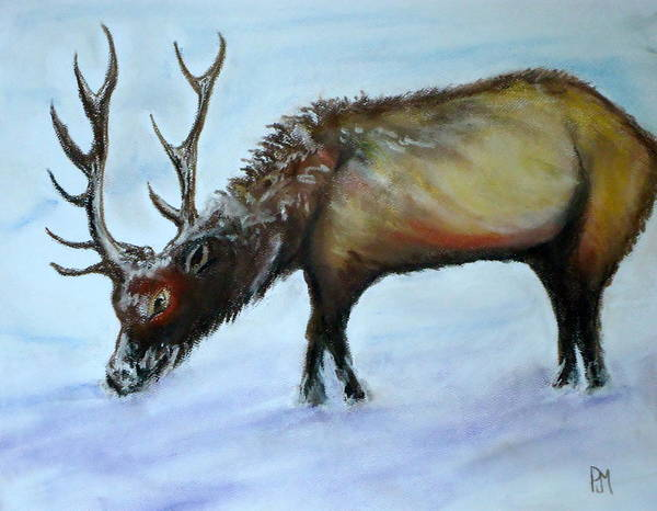 Elk Poster featuring the painting Elk II by Pete Maier