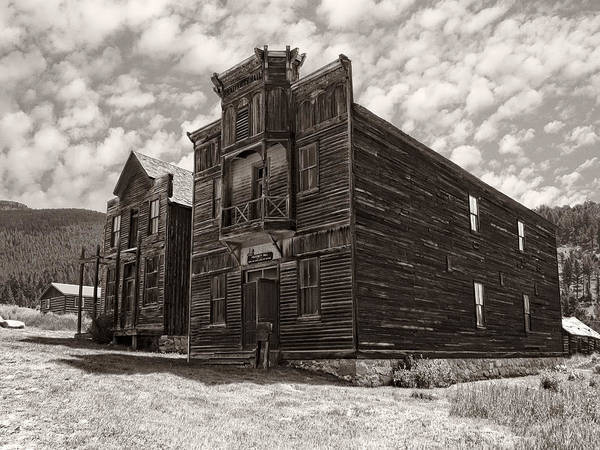 Elkhorn Poster featuring the photograph Elkhorn Ghost Town Public Halls 3 - Montana by Daniel Hagerman