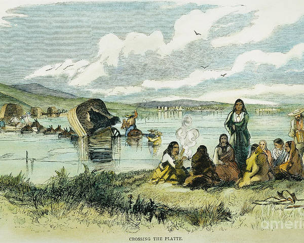 1859 Poster featuring the photograph Emigrants In Nebraska, 1859 by Granger