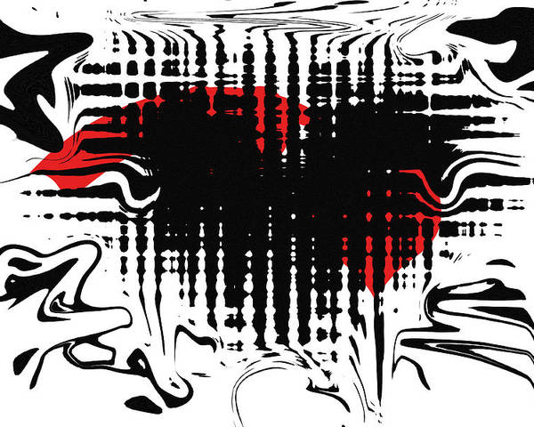 Abstract Poster featuring the digital art Emotion by David Dehner