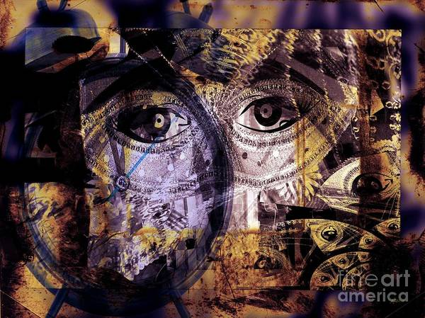 Fania Simon Poster featuring the mixed media Emotional Attachment- Free Me by Fania Simon