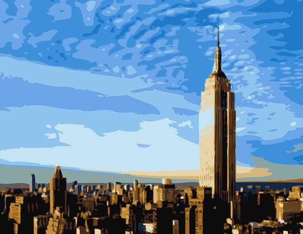 Empire State Building Poster featuring the photograph Empire State Building Color 16 by Scott Kelley