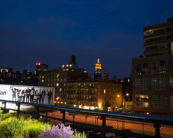 empire State Building Poster featuring the photograph Empire State From High Line by John Dryzga