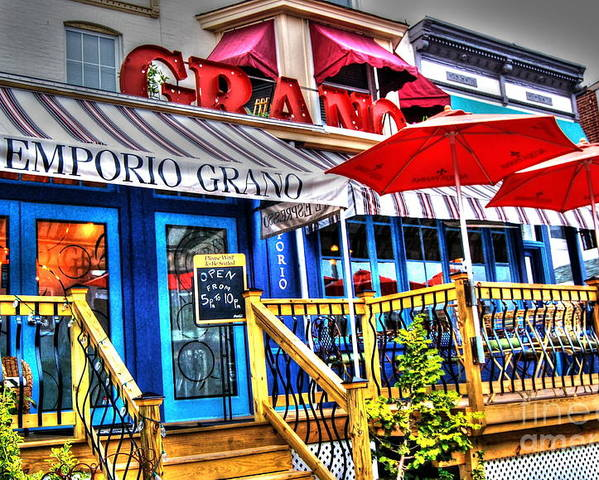Restaurant Poster featuring the photograph Emporio Grano by Debbi Granruth