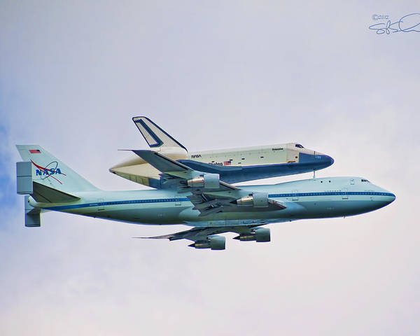 Shuttle Poster featuring the photograph Enterprise 5 by S Paul Sahm