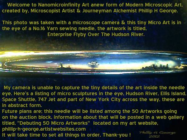 Nanomicroinfinity Art Poster featuring the painting Enterprise Flyby Over The Hudson River by Phillip H George
