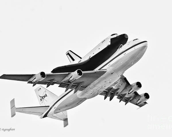 Enterprise Shuttle Poster featuring the photograph Enterprise Shuttle Ny Flyover by Regina Geoghan