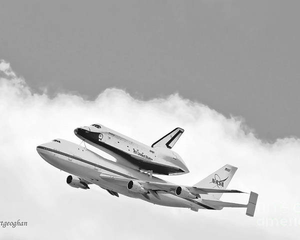 Enterprise Shuttle Poster featuring the photograph Enterprise Shuttle Over Ny by Regina Geoghan