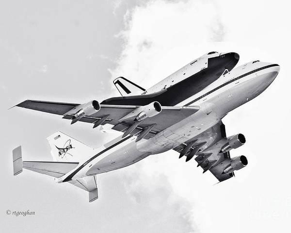 Enterprise Shuttle Poster featuring the photograph Enterprise Shuttle Piggyback Ride by Regina Geoghan
