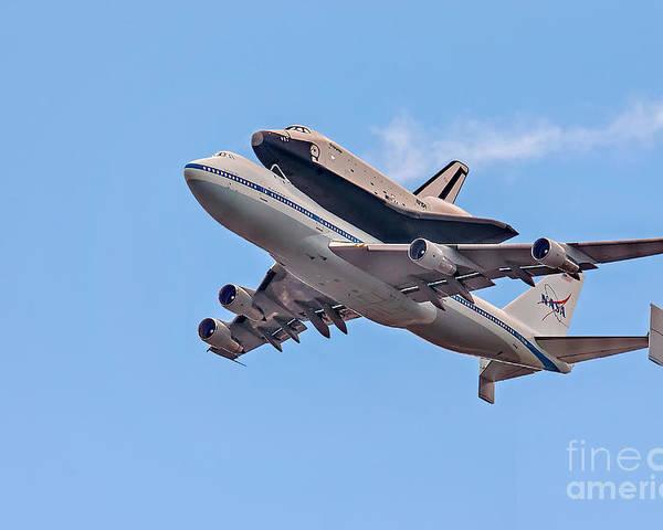 Space Shutle Enterprise Poster featuring the photograph Enterprise Space Shuttle by Susan Candelario
