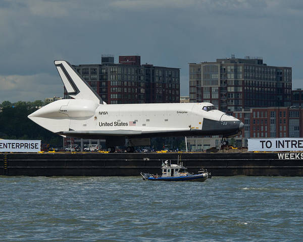 Space Shuttle Poster featuring the photograph Enterprise To Intrepid by Gary Eason