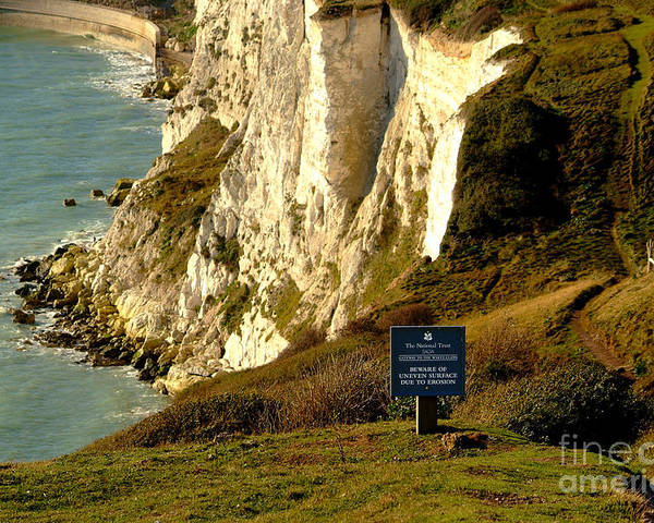 South Foreland Lighthouse Poster featuring the photograph Erosion At Work by Serena Bowles