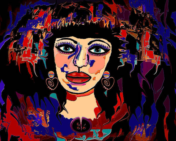 Woman Poster featuring the mixed media Exotic Woman by Natalie Holland