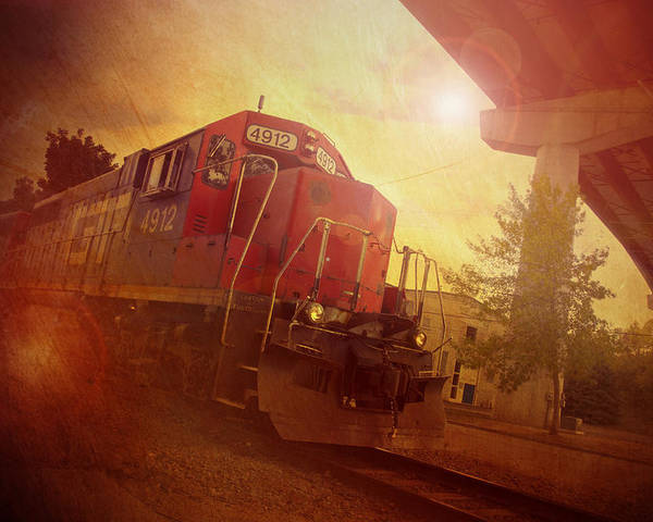 Train Poster featuring the photograph Express Train by Joel Witmeyer