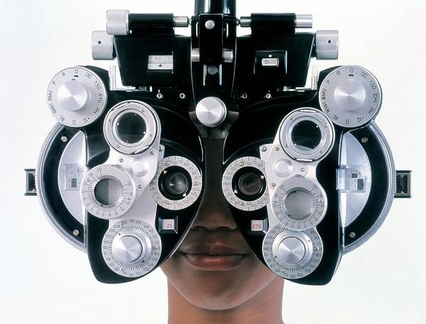 People Person Persons Poster featuring the photograph Eye Examination by Adam Hart-davis