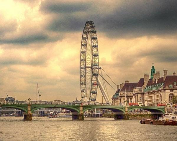 London Eye Poster featuring the photograph Eye Of The City by Sharon Lisa Clarke