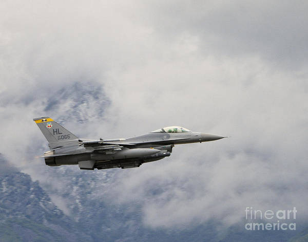 Vehicles Poster featuring the photograph F-16 Fighting Falcon by Dennis Hammer