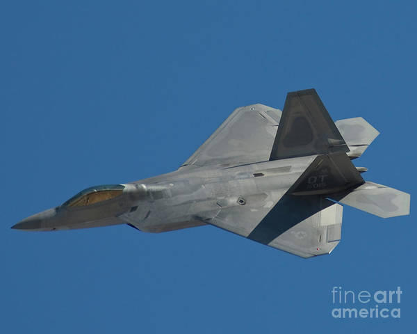 Northrop Poster featuring the photograph F-22 Lightning 2 Fighter by Tim Mulina