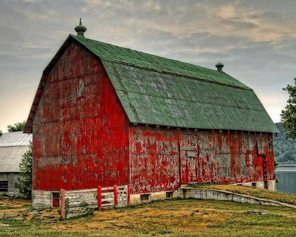 Barn Poster featuring the photograph Fading by Tim Wilson