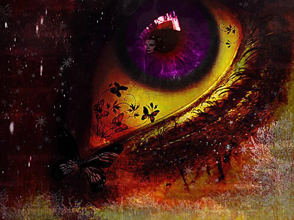Eye Poster featuring the digital art Fairy Eye by Yvon van der Wijk