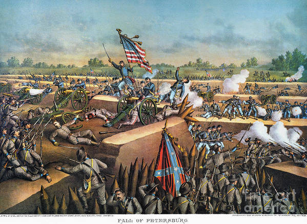 1865 Poster featuring the photograph Fall Of Petersburg, 1865 by Granger