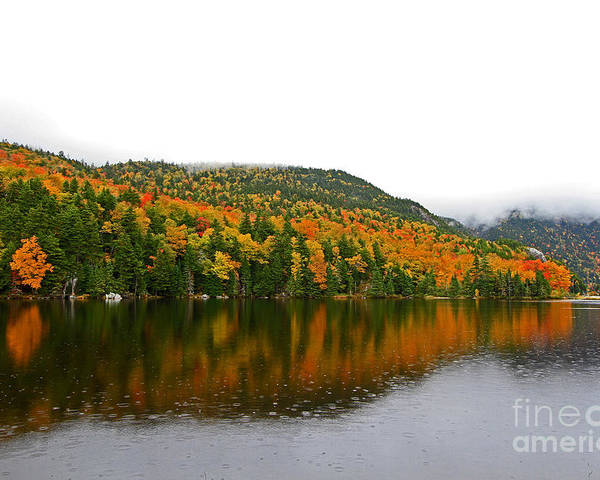 Fall Poster featuring the photograph Fall View Of Saco Lake And Elephants Head by Lloyd Alexander