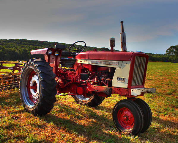 Andrew Pacheco Poster featuring the photograph Farmall Tractor In The Sunlight by Andrew Pacheco
