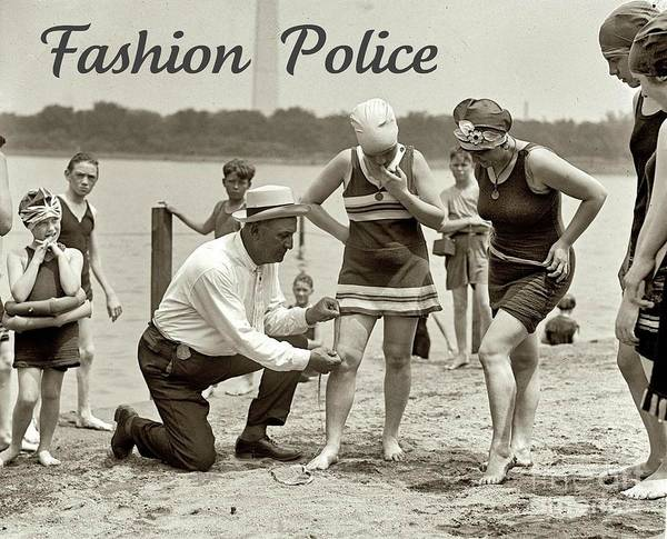 Fashion Police 1922 Poster featuring the photograph Fashion Police 1922 by Padre Art