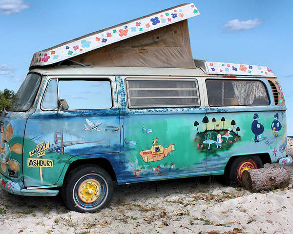Volkswagen Poster featuring the photograph Feelin' Groovy by Kristin Elmquist