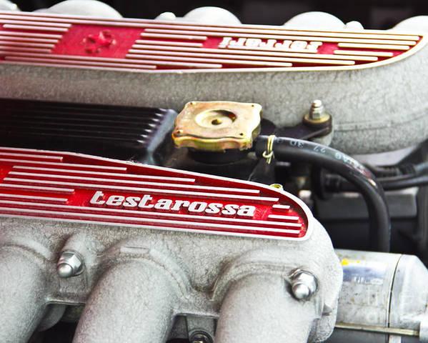 Ferrari Poster featuring the photograph Ferrari Testarossa by Andrew Cragin