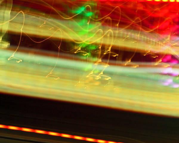 Ferris Wheel Poster featuring the photograph Ferris Streams 3 by Cyryn Fyrcyd