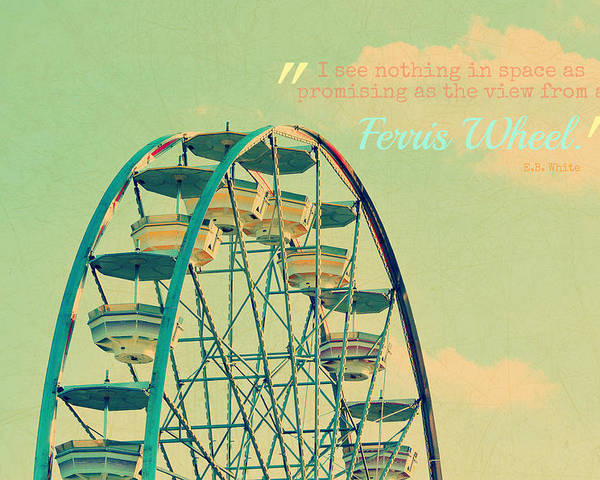 Ferris Wheel Poster featuring the photograph Ferris Wheel by Robin Dickinson