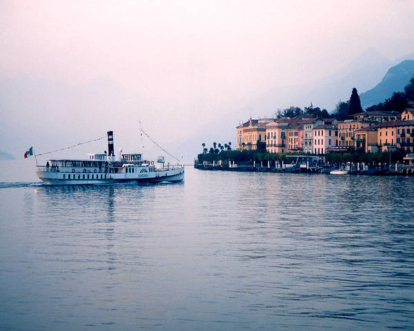 Bellagio Poster featuring the photograph Ferry To Bellagio On Lake Como by Greg Matchick