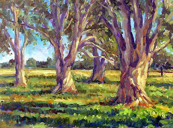 Oil Paint Poster featuring the painting Ficus Trees by Mark Hartung